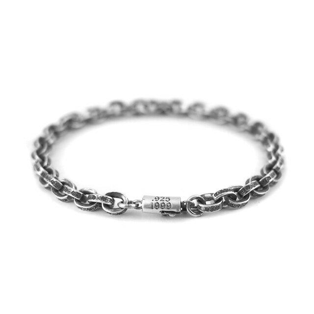 【海外訂購】【Chrome Hearts】Paper chain 鎖鍊型純銀手鍊 18cm (CHB-059-7 0223610000) 1