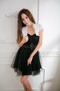 PMQueen白羽夜后洋裝禮服[#30031-2] 緞面百搭小外套/短版/罩衫/披肩/晚宴(領子有隱藏鐵絲可立領可調整)