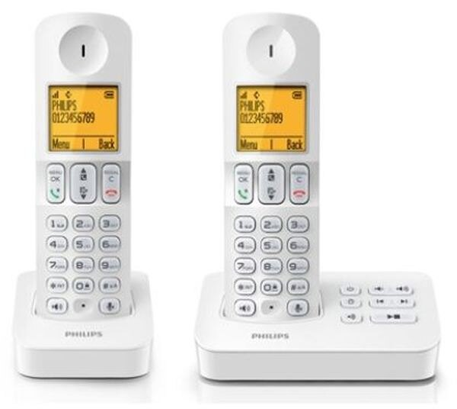 PHILIPS 飛利浦  數位子母無線電話 D4052W