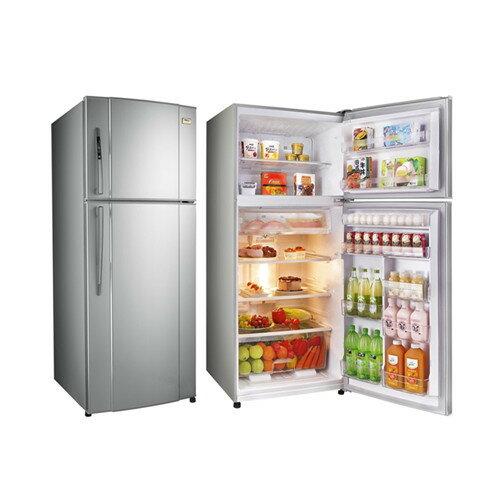TECO 東元 一級變頻雙門冰箱 琉璃金 R4861XK / 奈米銀抗菌脫臭 / 冷藏室多重出風口 / 大型柔光燈