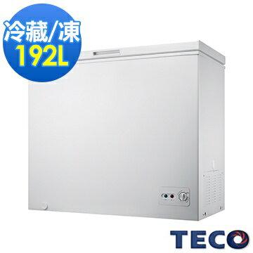TECO 東元 RL1988W 單門192L 冷凍櫃 ★2014年新品上市! 快速冷凍 、箱內底部排水孔