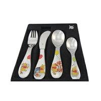 小熊維尼周邊商品推薦WMF 3歲以上兒童學習專用餐具四件組維尼熊版
