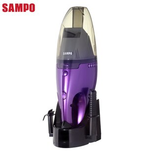 SAMPO 聲寶 充電式 乾濕兩用手持吸塵器 EC-SA05HT 手持無線設計/充電底座好收納/透明集塵杯