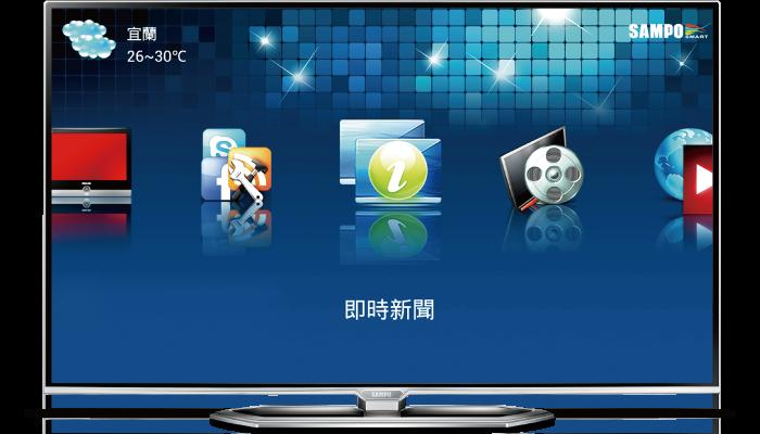 SAMPO 聲寶 65吋 LED液晶顯示器 EM-65NT15D/1.5G雙核心/聲寶i家庭/20Hz動態倍頻