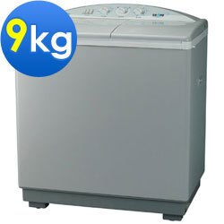 SAMPO 聲寶 雙槽半自動洗衣機 ES-900T 雙槽半自動洗衣、琺瑯材質脫水籠