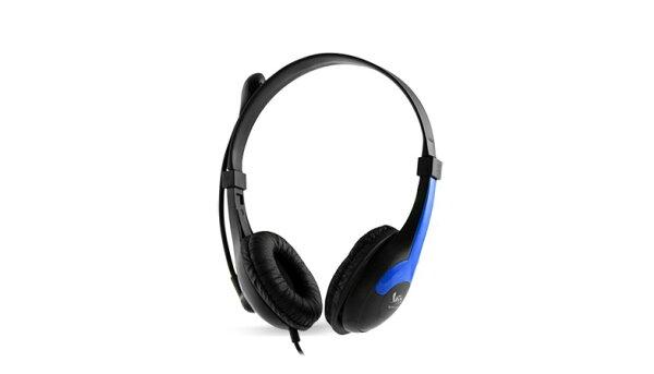樂點生活●laclick VORTEX立體聲耳機麥克風-藍 MOE191-1