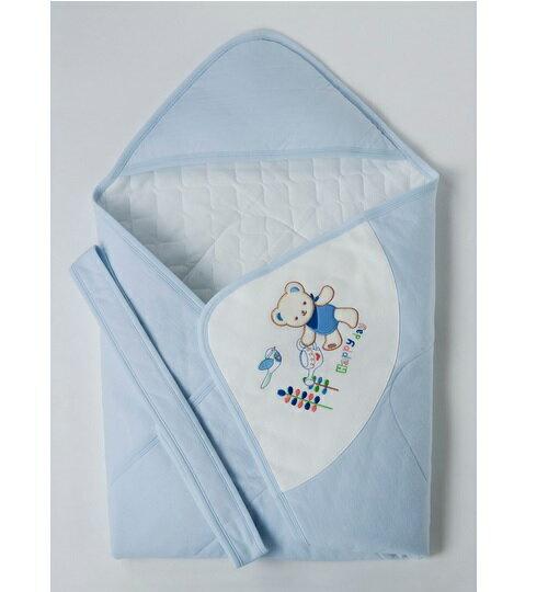 台灣【Baby City】快乾棉包巾(藍/粉) 0
