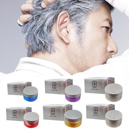 日本 Silver Ash 野爺灰髮蠟 乃奶灰髮泥 100g 灰色髮蠟 變色髮蠟 奶奶灰 髮泥 免染髮髮臘 絕銀髮蠟【B061384】