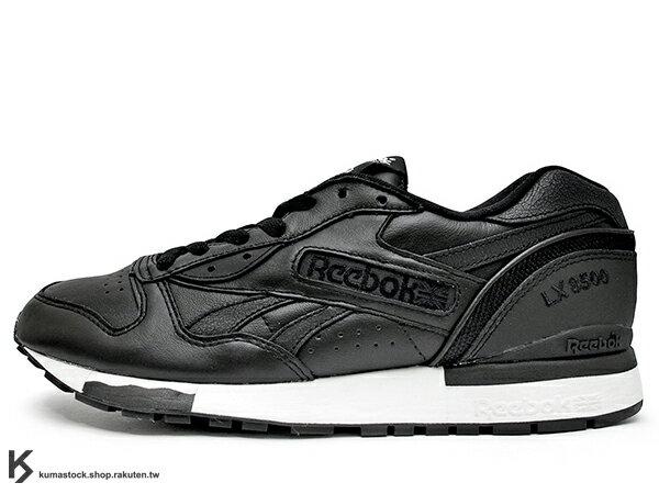 2015 限量登場 最強暗黑骷髏 限定回歸 mastermind JAPAN x REEBOK LX 8500 LUXURY 聯名款 全黑 黑白 骷髏頭 1985 經典跑鞋 皮革 MMJ (V67117) !
