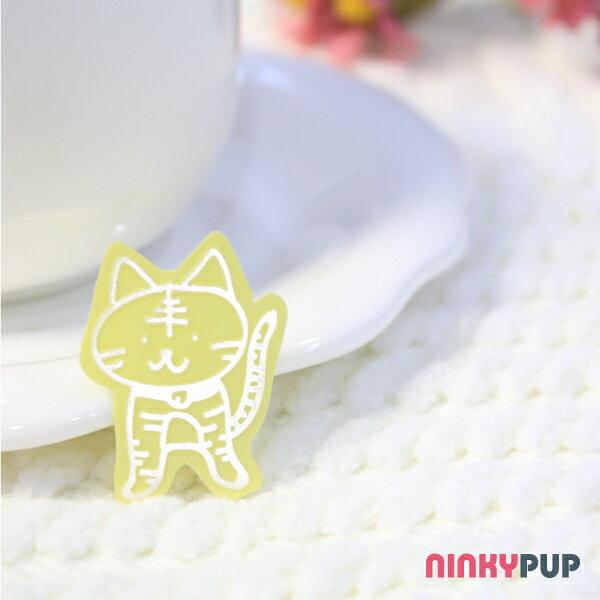 [寵物貼紙] 反光貼紙  小貓咪 3.5*2.5cm