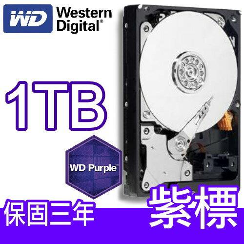 WD 威騰 10PURX 1TB 【紫標 / 監控碟 / 64M】3.5吋 SATA3 內接硬碟