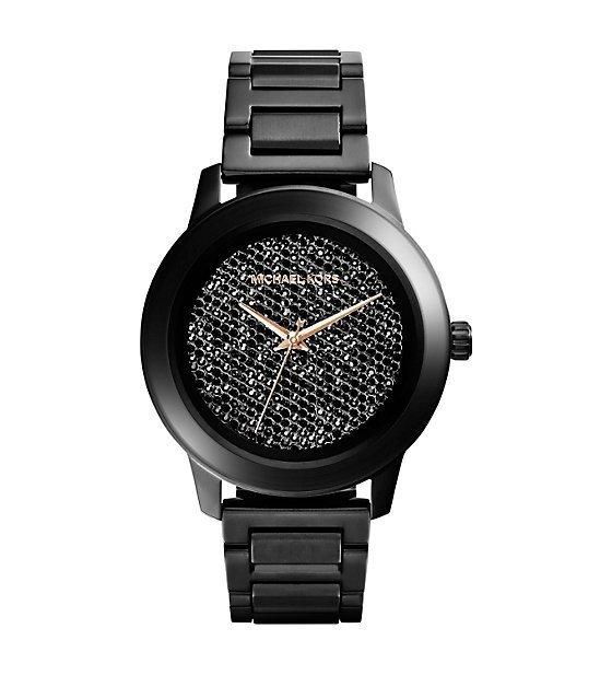 【MICHAEL KORS】正品 日夜星鑽時尚圓錶-夜 MK5999 MK 0