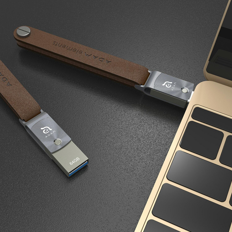 【亞果元素】ROMA USB Type-C 雙用隨身碟 64GB 灰 3