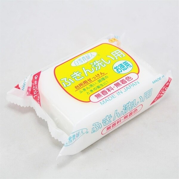 日本製 白雪貴婦人 去污皂 萬用洗潔皂 廚房專用皂 150g