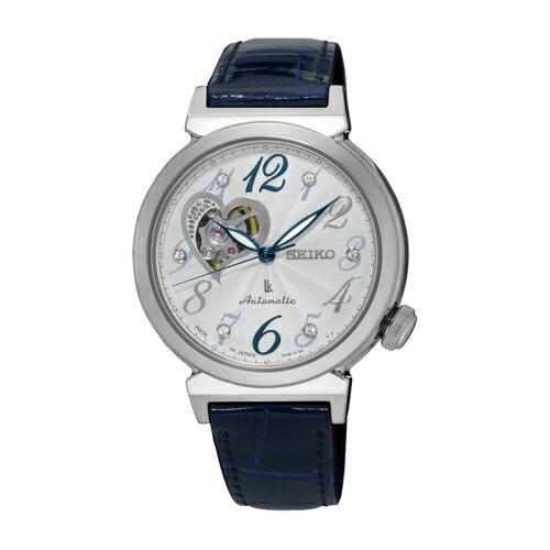 SEIKO LUKIA 時尚品味機械女腕錶/4R38-01C0B(SSA843J1)/鱷魚皮錶帶