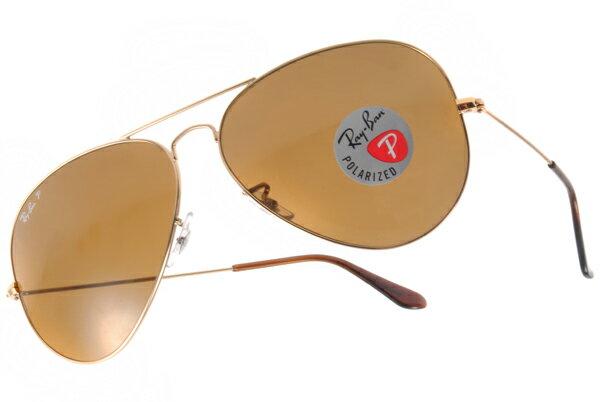 Ray Ban 雷朋 金邊茶色偏光 RB3025 太陽眼鏡 2