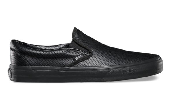 VANS SHOES - VANS - 基本款皮質Perf Leather Slip On-全黑款(52010842)