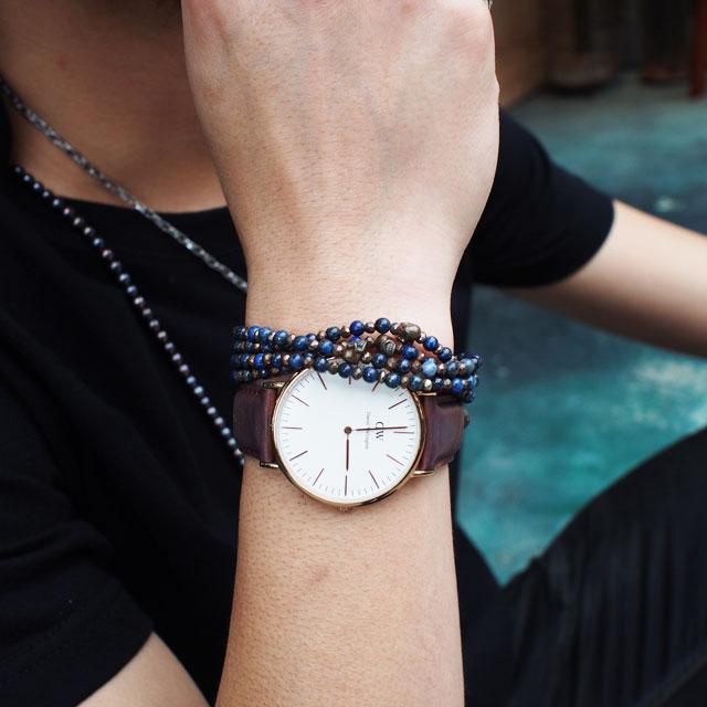 【現貨商品】【STARLINGEAR】復古風格青金石串珠銅製骷髏項鍊(STN038M-CP-2  0593630000) 3