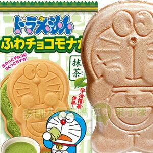 【只要1元】*即期特賣*日本BANDAI 哆啦a夢 巧克力最中餅(抹茶味) 小叮噹造型 [JP438]