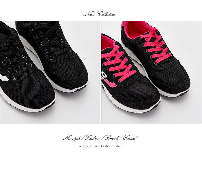 格子舖*【ASB-3】*限時免運*嚴選簡單時尚韓版布面撞色 綁帶運動休閒鞋 帆布鞋 2色 2