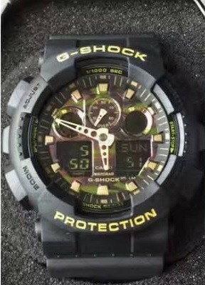 國外代購 CASIO G-SHOCK GA-100CM-4A 叢林迷彩 防水 手錶 腕錶 電子錶 男女錶 迷彩紅 2