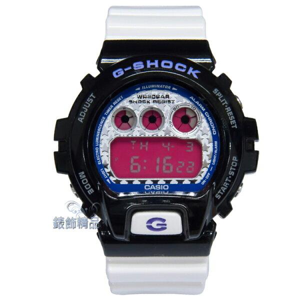 【錶飾精品】現貨卡西歐CASIO G-SHOCK時尚潮流 DW-6900SC-1黑框桃紅 星星 白色膠帶 DW-6900SC-1DR 全新原廠正品 生日 情人節 禮物 禮品