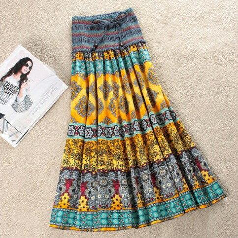 波西米亞亞麻洋裝 / 長裙 (可兩穿)【27103】藍色巴黎 《 5色》現貨+預購 2