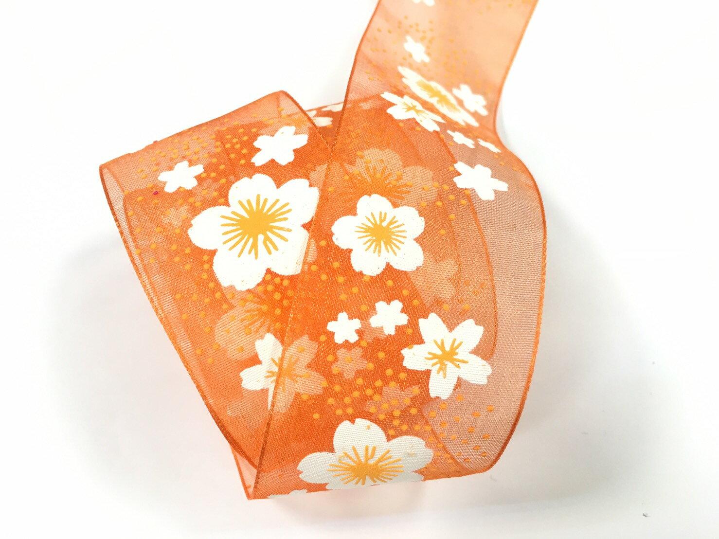 【Crystal Rose緞帶專賣店】小花朵朵網紗緞帶 38mm 3碼裝 3