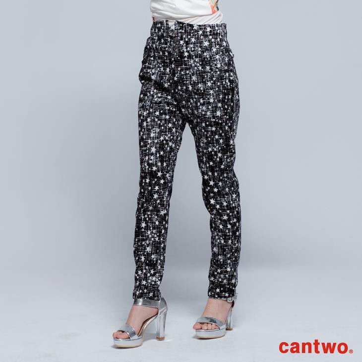 cantwo星星磨毛感中腰小直筒褲(共兩色) 0