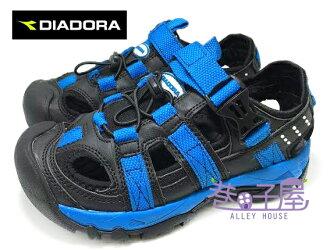 【巷子屋】義大利國寶鞋-DIADORA迪亞多納 童款三大機能排水護趾運動涼鞋 [9630] 黑藍 超值價$398