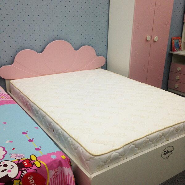[首雅傢俬]迪士尼3.5尺/5尺/5尺加長矽膠彈簧床墊,單人/雙人床墊
