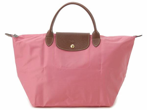 [1623-M號]國外Outlet代購正品 法國巴黎 Longchamp  短柄 購物袋防水尼龍手提肩背水餃包 西瓜紅 0