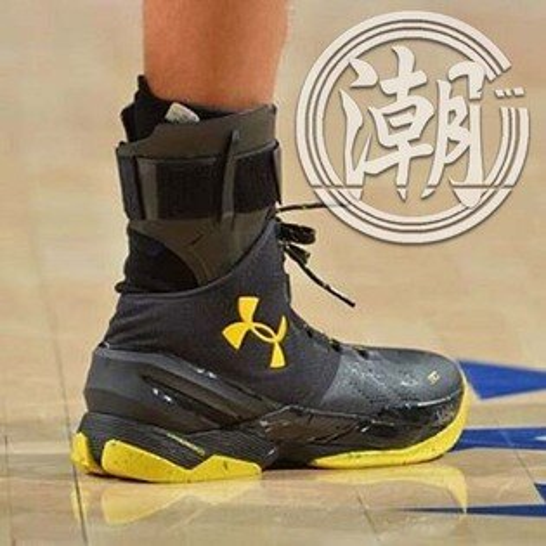Under Armour curry 2 柯瑞2代 UA黑黃 男鞋 籃球鞋【T0027】潮