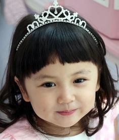 天使嫁衣【童CP11】閃亮水鑽髮箍式造型皇冠-預購訂製款