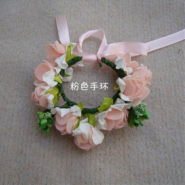 天使嫁衣【童CP20】2色泡棉仿花朵造型手腕花-預購特價訂製款