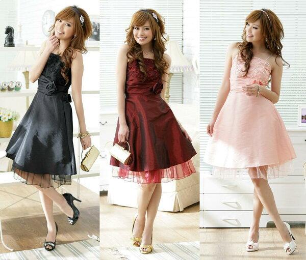 天使嫁衣【J2K1174】3色甜美大裙擺洋裝小禮服˙預購