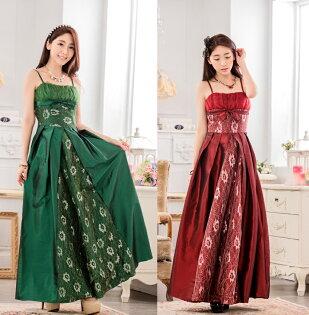 天使嫁衣【J2K9734】2色中大尺碼時尚晚會表演主持大擺長洋裝禮服-預購