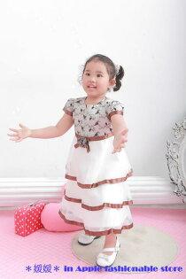 天使嫁衣【童950701】收邊拼色層層網紗禮服-現貨特價出清