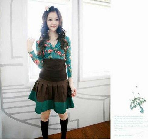 天使嫁衣【K7563】咖啡色精心打造百搭中裙-現貨特價出清(查庫)