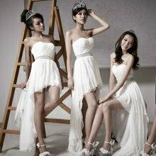 天使嫁衣【ALD8120】寶藍色前短後長淺心型領伴娘小禮服˙現貨特價出清