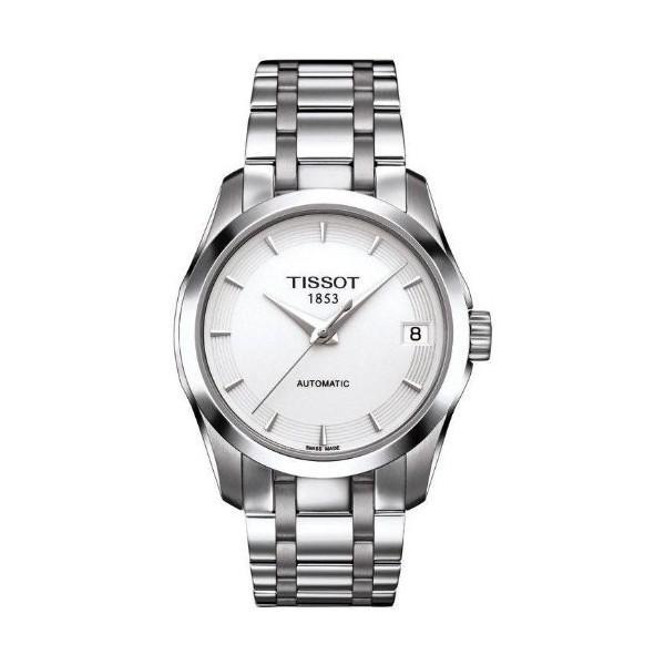 TISSOT天梭T0352071101100 建構師經典日曆腕錶/白面32mm