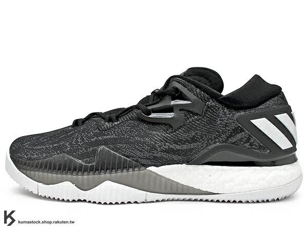 2016 詢問度極高 限量發售 BOOST 專利能量回饋避震系統搭載 adidas CRAZYLIGHT BOOST LOW 2016 低筒 男鞋 黑白 (B42722) 0716
