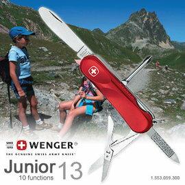【鄉野情戶外用品店】 Wenger |瑞士|  Junior 13/青少年十用瑞士刀/1.553.059.300 【十種功能】
