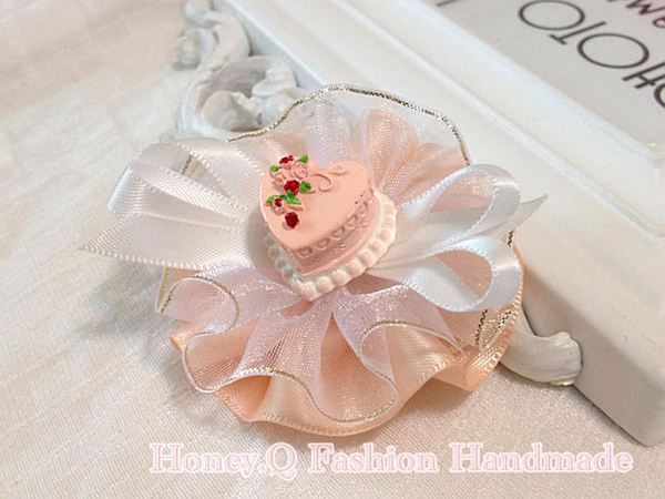 Honey Q-幸福滿滿的Wedding Cake婚禮蛋糕紗圓. 髮夾 / 髮圈 / 髮箍 / 寶寶髮帶