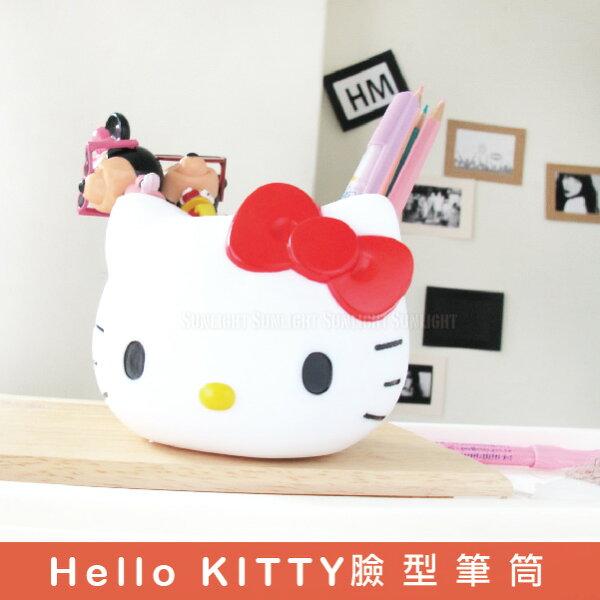 日光城。Hello KITTY臉型筆筒,凱蒂貓 三麗鷗家族 手機座 文具 收納(10005201)