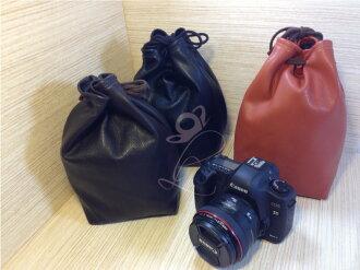 日光城。單眼相機束口袋,皮革皮套 SONY Canon NIKON G5 G3 700D 5D2 650D 550D A33 100D(3703)