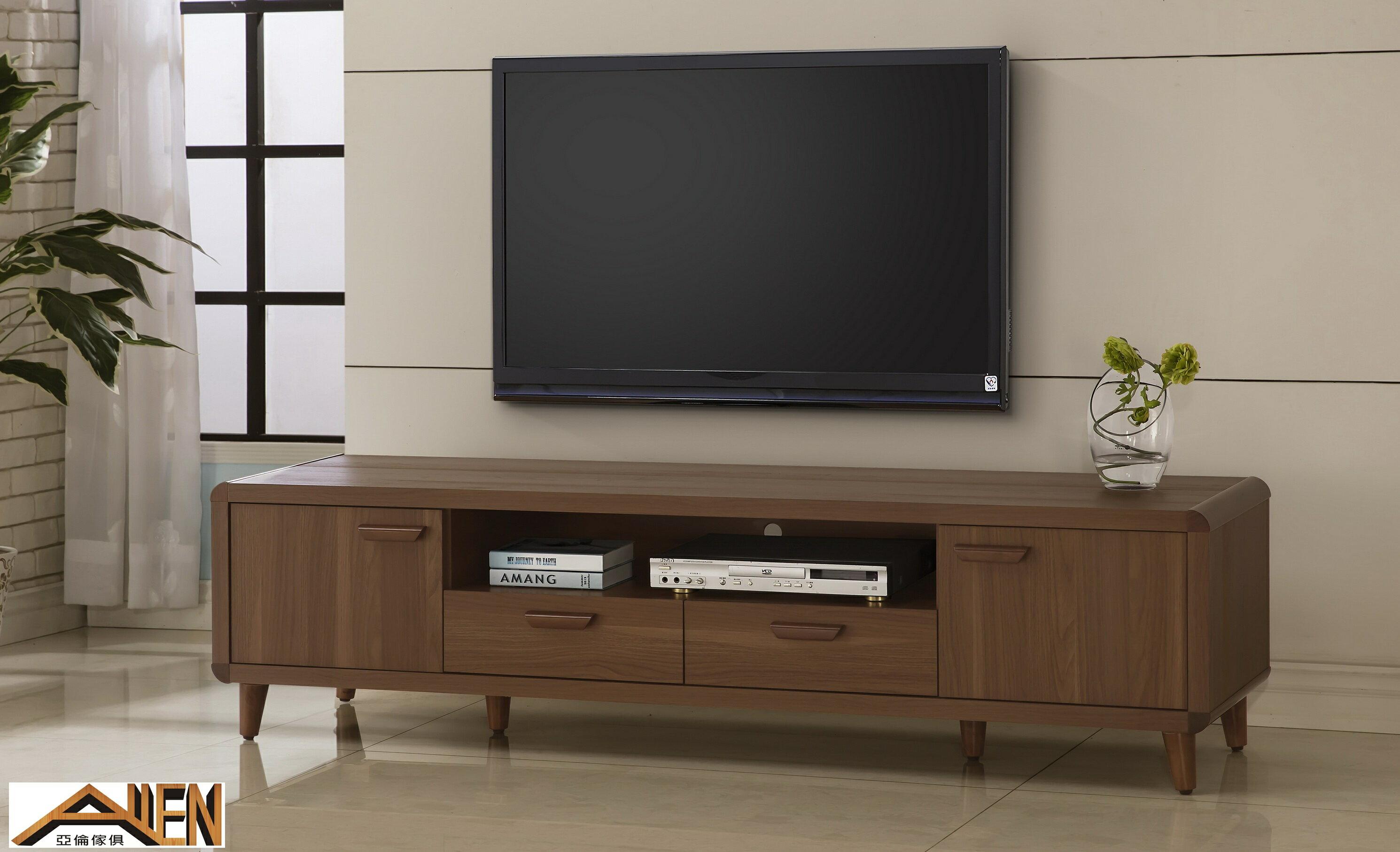 亞倫傢俱*阿勞德安全R角6尺電視櫃 0