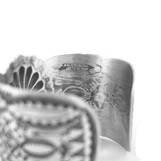 【現貨商品】【Vincent Joe Platero】寬版印地安圖騰刻印手鐲 1.5 inch(Vincent-002-1.5  S000007772) 3