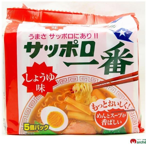 [日本北海道札幌拉麵]三洋札幌一番5入包麵-醬油500g
