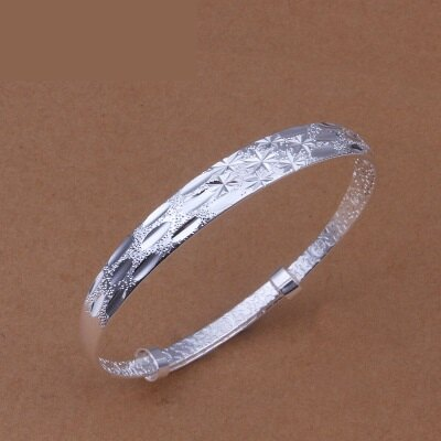 ~925純銀手環~手飾~獨特雕刻花紋風格母親節生日情人節 女飾品73cc85~ ~~米蘭